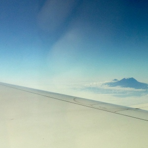 Mount Kilimanjaro from the airplane window at the beginning of our trip. What a great way to start!